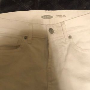 Never worn old navy white power Jean size 0